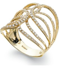 d'oro by effy diamond swirl ring in 14k gold (1/2 ct. t.w.)