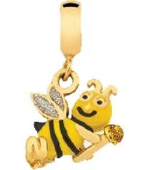 berloque infantil abelha banhado a ouro 18k