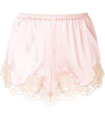 dolce & gabbana underwear lace-trim brief shorts - pink