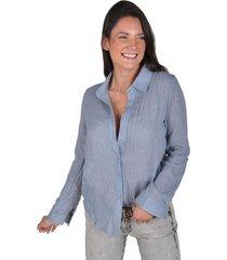 blusa bambula azul alexandra cid