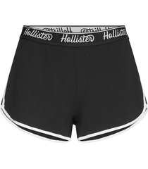 chain knit logo shorts shorts flowy shorts/casual shorts svart hollister