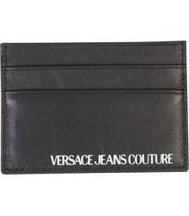 versace jeans couture printed card holder