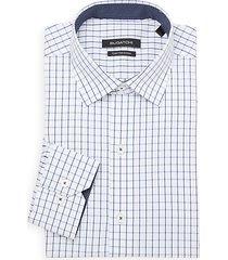 fine check dress shirt