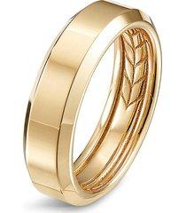 'beveled' 18k gold ring