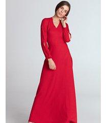 sukienka maxi z wycięciami na rękawach