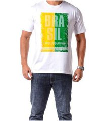 camiseta braziline manga curta brasil tietê adulto