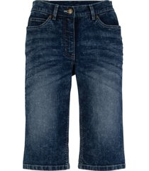 shorts di jeans elasticizzati in look usato (nero) - bpc bonprix collection