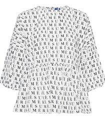 anne blouse blouse lange mouwen wit résumé
