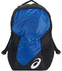 asics men's edge ii colorblock backpack - royal black