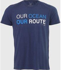 camiseta ellus our ocean azul-marinho