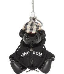 burberry thomas bear charm in hooded top - black