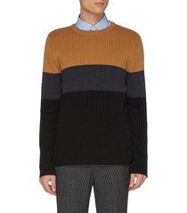 colourblock panel wool knit sweater