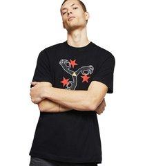 polera t just a12 t shirt negro diesel