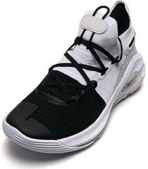 tenis basketball negro-blanco under armour ua curry 6