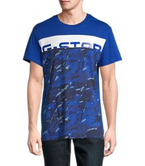 g-star raw men's graphic cotton tee - hudson blue multi - size l