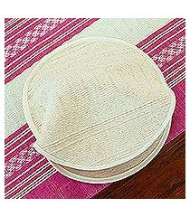 cotton tortilla warmer, 'handloomed textures' (mexico)