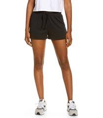 women's madewell mwl breeze drawstring shorts, size x-large - black