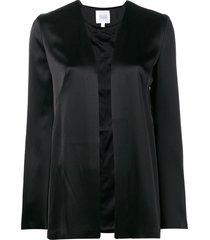 galvan satin evening jacket - black