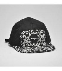 boné simple skateboard arabian black