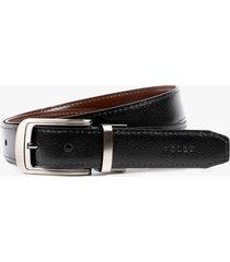 cinturón doble faz de cuero costuras