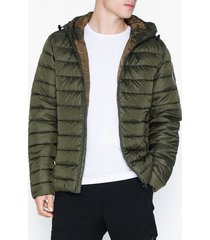 only & sons onssteven quilted hood jacket otw n jackor mörk grön