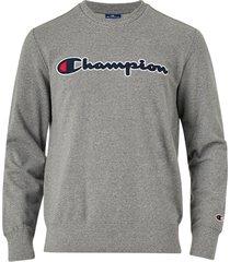 sweatshirt med broderad logo