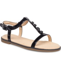 bay blossom shoes summer shoes flat sandals svart clarks