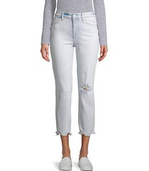 luxe vintage mid-rise edie straight leg jeans