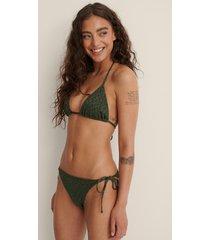 na-kd swimwear bikiniunderdel med snörning i sidan - green