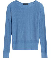 sweater lino ribbed roll azul banana republic