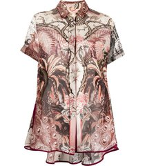 f.r.s for restless sleepers short-sleeve botanical-print shirt - red