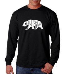 la pop art men's word art long sleeve t-shirt - california bear