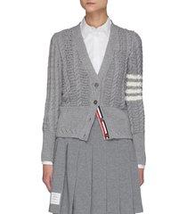'funmix' merino wool cable knit cardigan