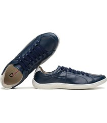 sapatãªnis casual tenis masculino confort marinho - azul marinho - masculino - couro sintã©tico - dafiti
