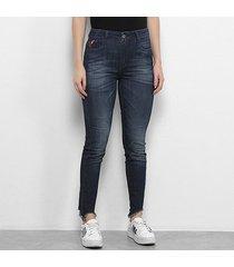 calça jeans skinny ellus h.gisele asa feminina