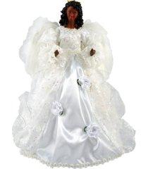 "santa's workshop 16"" black wedding dress angel tree topper"