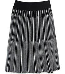 adelita black and white pleated skirt