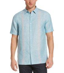 cubavera men's tape-panel shirt