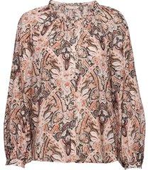 anna printed blouse blouse lange mouwen roze odd molly
