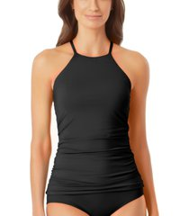 anne cole high-neck tankini top women's swimsuit