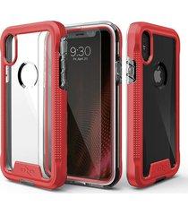 estuche protector zizo ion iphone x/xs - rojo