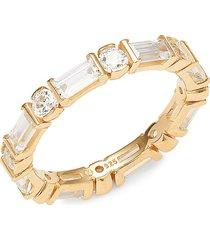 adriana orsini women's goldtone & crystal ring/size 7 - size 7