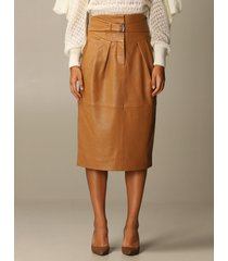 alberta ferretti skirt leather sheath dress