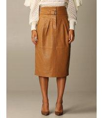 alberta ferretti skirt leather sheath dress