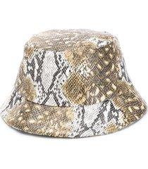 bo(y)smans snake print hat - brown
