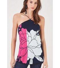 blusa marais bicolor off est silk marais bicolor off top