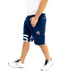 pantaloneta deportiva azul oscuro manpotsherd ref: paris