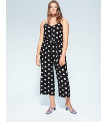 jumpsuit met stippelprint