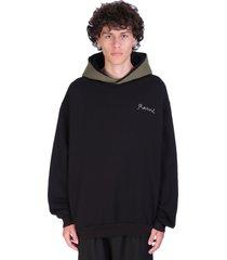 marni sweatshirt in black cotton