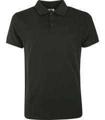 saint laurent embroidered polo shirt